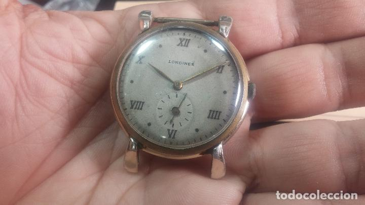 Relojes de pulsera: Botito y enorme reloj Longines con maquinaria de Gala, para reparar o piezas, aunque pareciera que.. - Foto 18 - 151378525