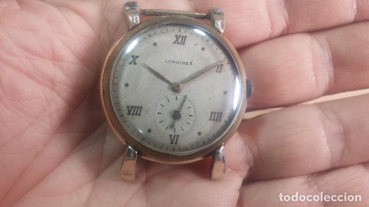 Relojes de pulsera: Botito y enorme reloj Longines con maquinaria de Gala, para reparar o piezas, aunque pareciera que.. - Foto 25 - 151378525