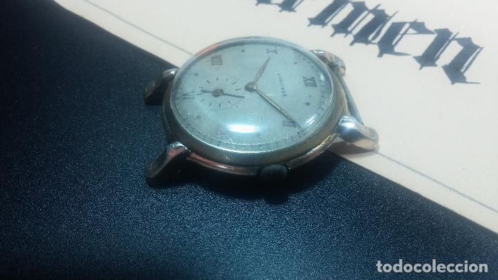 Relojes de pulsera: Botito y enorme reloj Longines con maquinaria de Gala, para reparar o piezas, aunque pareciera que.. - Foto 29 - 151378525