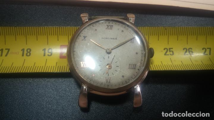 Relojes de pulsera: Botito y enorme reloj Longines con maquinaria de Gala, para reparar o piezas, aunque pareciera que.. - Foto 30 - 151378525