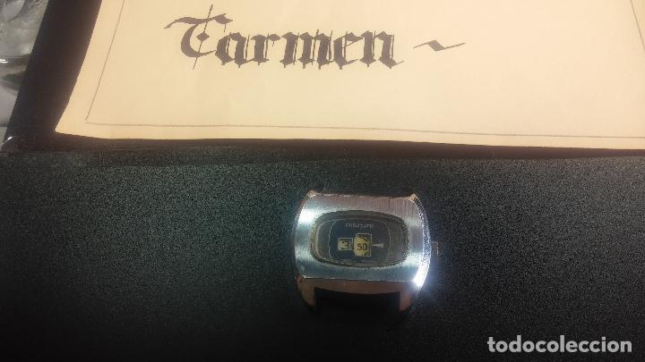 Relojes de pulsera: BOTITO, grande y curioso reloj digital antiguo de cuerda, para reparar o para piezas - Foto 2 - 124239231