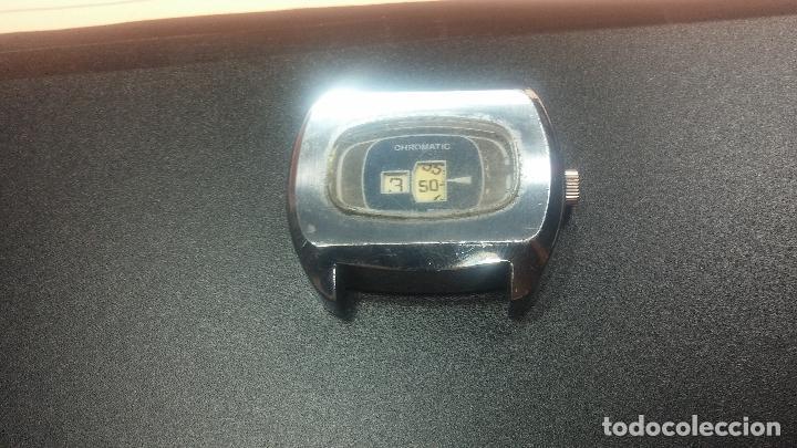 Relojes de pulsera: BOTITO, grande y curioso reloj digital antiguo de cuerda, para reparar o para piezas - Foto 7 - 124239231