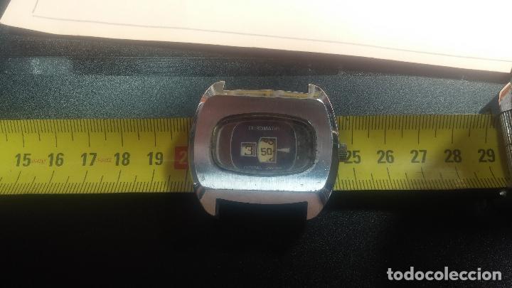 Relojes de pulsera: BOTITO, grande y curioso reloj digital antiguo de cuerda, para reparar o para piezas - Foto 18 - 124239231