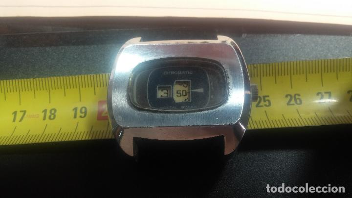 Relojes de pulsera: BOTITO, grande y curioso reloj digital antiguo de cuerda, para reparar o para piezas - Foto 20 - 124239231
