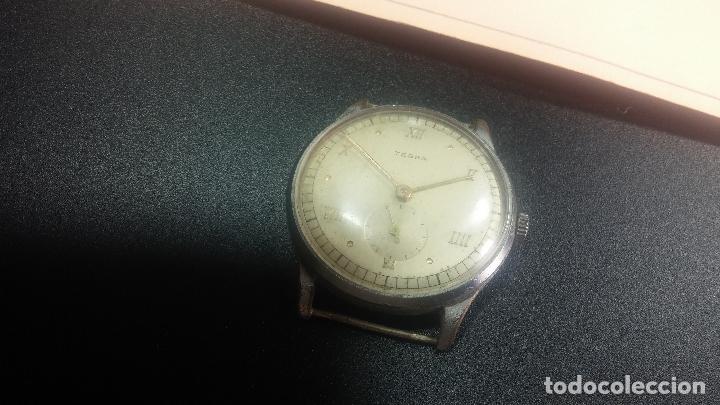 Relojes de pulsera: Botito y grande reloj TEGRA para reparar o para piezas. - Foto 6 - 124239283