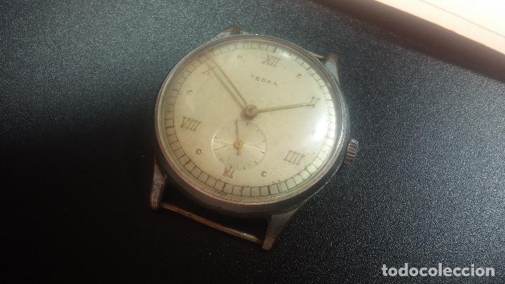 Relojes de pulsera: Botito y grande reloj TEGRA para reparar o para piezas. - Foto 8 - 124239283