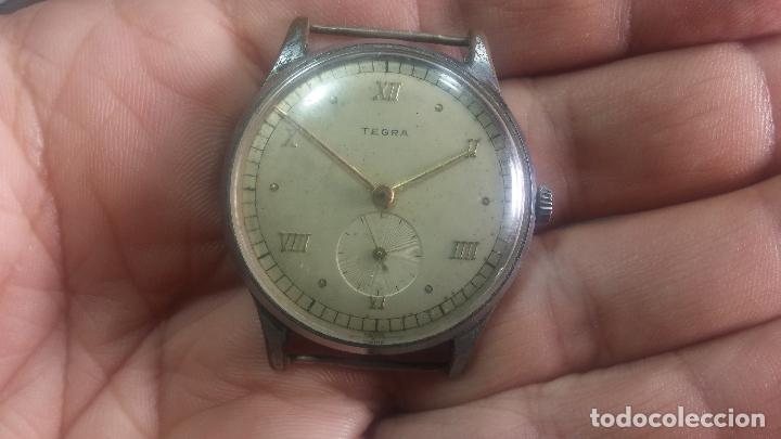 Relojes de pulsera: Botito y grande reloj TEGRA para reparar o para piezas. - Foto 9 - 124239283