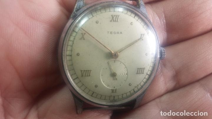 Relojes de pulsera: Botito y grande reloj TEGRA para reparar o para piezas. - Foto 12 - 124239283