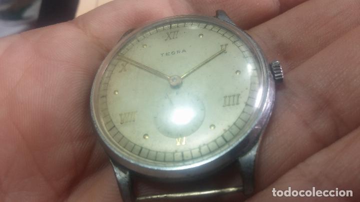 Relojes de pulsera: Botito y grande reloj TEGRA para reparar o para piezas. - Foto 13 - 124239283
