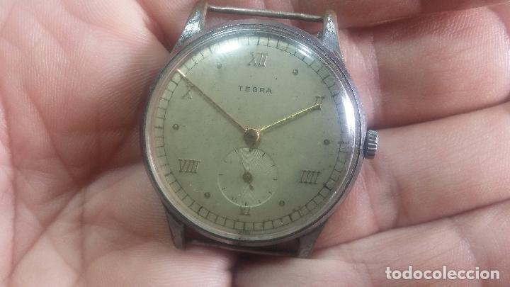 Relojes de pulsera: Botito y grande reloj TEGRA para reparar o para piezas. - Foto 17 - 124239283