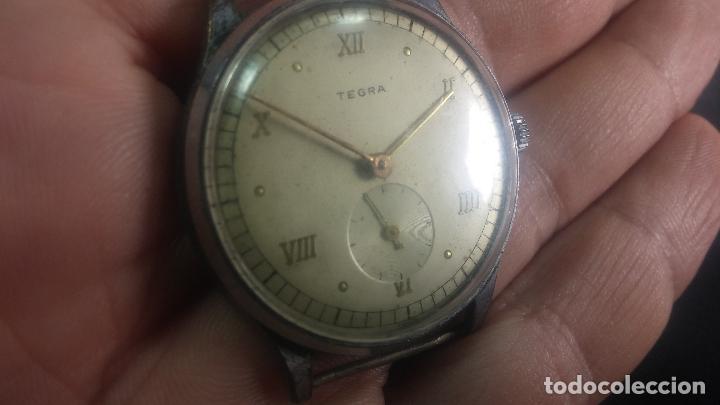 Relojes de pulsera: Botito y grande reloj TEGRA para reparar o para piezas. - Foto 18 - 124239283