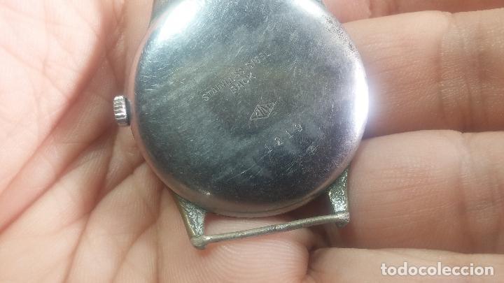 Relojes de pulsera: Botito y grande reloj TEGRA para reparar o para piezas. - Foto 19 - 124239283