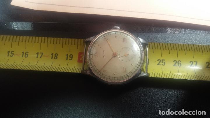 Relojes de pulsera: Botito y grande reloj TEGRA para reparar o para piezas. - Foto 22 - 124239283