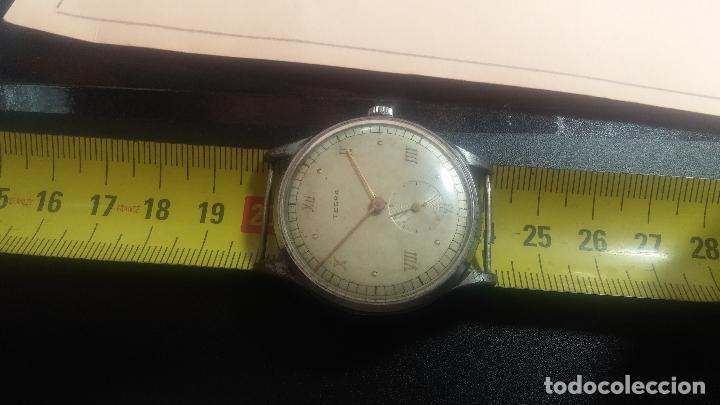 Relojes de pulsera: Botito y grande reloj TEGRA para reparar o para piezas. - Foto 23 - 124239283