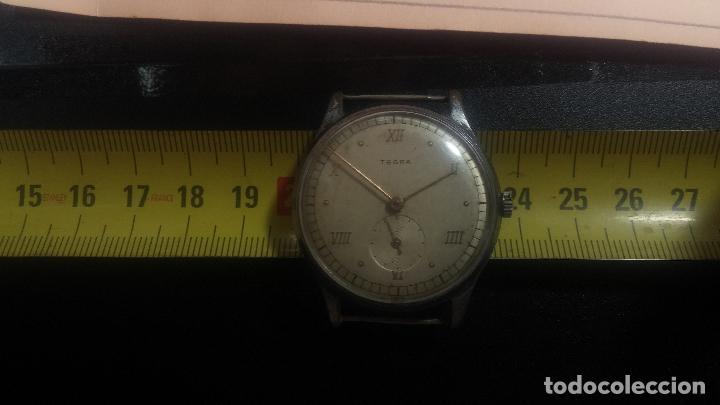 Relojes de pulsera: Botito y grande reloj TEGRA para reparar o para piezas. - Foto 32 - 124239283