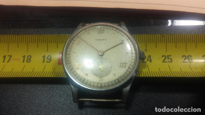 Relojes de pulsera: Botito y grande reloj TEGRA para reparar o para piezas. - Foto 35 - 124239283