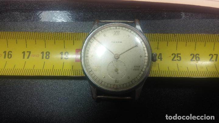 Relojes de pulsera: Botito y grande reloj TEGRA para reparar o para piezas. - Foto 36 - 124239283