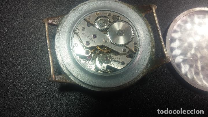 Relojes de pulsera: Botito y grande reloj TEGRA para reparar o para piezas. - Foto 38 - 124239283