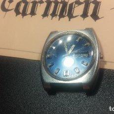 Relojes de pulsera: BOTITO Y GRANDE RELOJ CLIPER CON BOTITA ESFERA AZUL MARINE, PARA REPARAR O PARA PIEZAS.. Lote 124239335