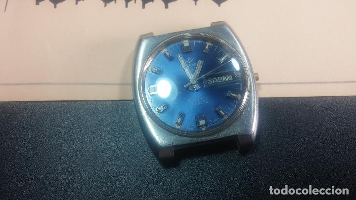 Relojes de pulsera: Botito y grande reloj CLIPER con botita esfera azul marine, para reparar o para piezas. - Foto 6 - 124239335