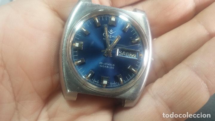 Relojes de pulsera: Botito y grande reloj CLIPER con botita esfera azul marine, para reparar o para piezas. - Foto 8 - 124239335