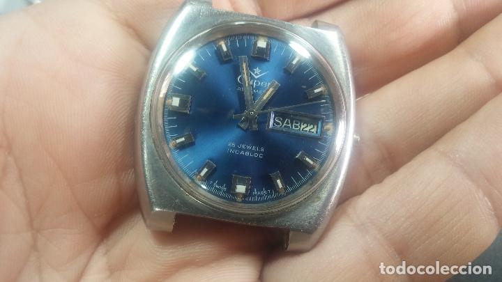 Relojes de pulsera: Botito y grande reloj CLIPER con botita esfera azul marine, para reparar o para piezas. - Foto 9 - 124239335
