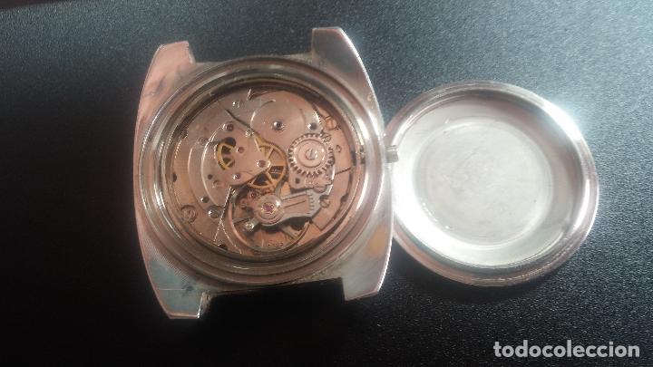 Relojes de pulsera: Botito y grande reloj CLIPER con botita esfera azul marine, para reparar o para piezas. - Foto 10 - 124239335
