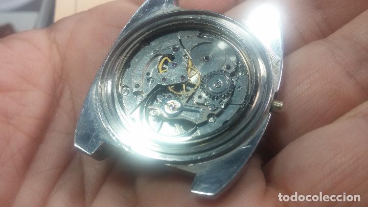 Relojes de pulsera: Botito y grande reloj CLIPER con botita esfera azul marine, para reparar o para piezas. - Foto 12 - 124239335