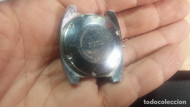 Relojes de pulsera: Botito y grande reloj CLIPER con botita esfera azul marine, para reparar o para piezas. - Foto 13 - 124239335
