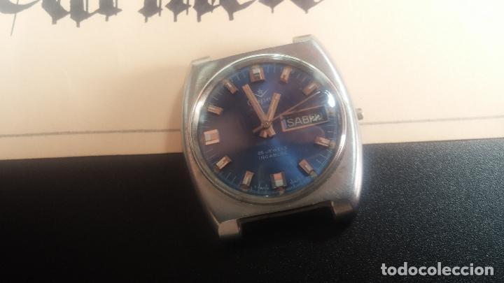 Relojes de pulsera: Botito y grande reloj CLIPER con botita esfera azul marine, para reparar o para piezas. - Foto 14 - 124239335