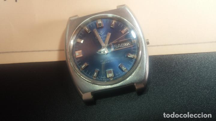 Relojes de pulsera: Botito y grande reloj CLIPER con botita esfera azul marine, para reparar o para piezas. - Foto 15 - 124239335