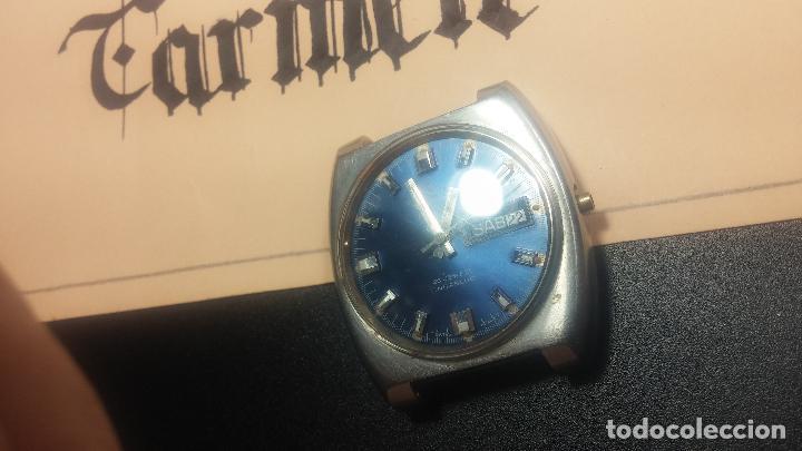 Relojes de pulsera: Botito y grande reloj CLIPER con botita esfera azul marine, para reparar o para piezas. - Foto 16 - 124239335