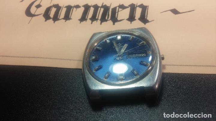 Relojes de pulsera: Botito y grande reloj CLIPER con botita esfera azul marine, para reparar o para piezas. - Foto 17 - 124239335