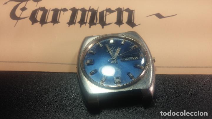 Relojes de pulsera: Botito y grande reloj CLIPER con botita esfera azul marine, para reparar o para piezas. - Foto 18 - 124239335