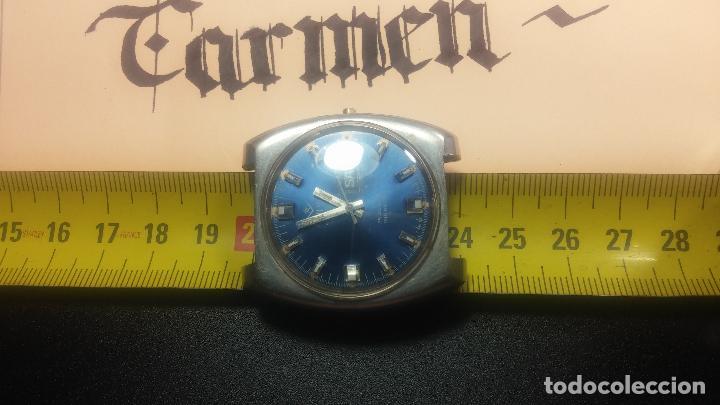 Relojes de pulsera: Botito y grande reloj CLIPER con botita esfera azul marine, para reparar o para piezas. - Foto 21 - 124239335