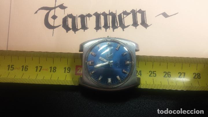 Relojes de pulsera: Botito y grande reloj CLIPER con botita esfera azul marine, para reparar o para piezas. - Foto 22 - 124239335