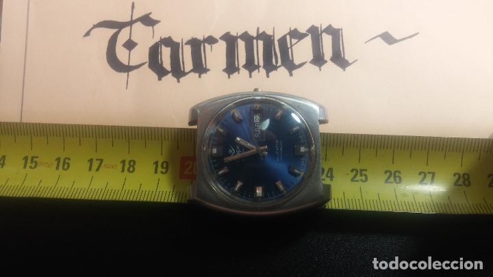 Relojes de pulsera: Botito y grande reloj CLIPER con botita esfera azul marine, para reparar o para piezas. - Foto 23 - 124239335