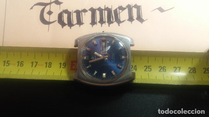 Relojes de pulsera: Botito y grande reloj CLIPER con botita esfera azul marine, para reparar o para piezas. - Foto 24 - 124239335