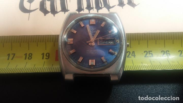 Relojes de pulsera: Botito y grande reloj CLIPER con botita esfera azul marine, para reparar o para piezas. - Foto 27 - 124239335