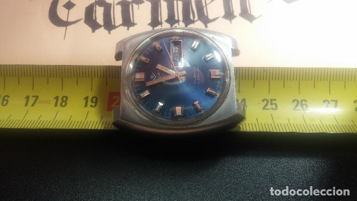 Relojes de pulsera: Botito y grande reloj CLIPER con botita esfera azul marine, para reparar o para piezas. - Foto 28 - 124239335