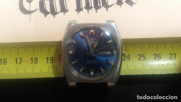 Relojes de pulsera: Botito y grande reloj CLIPER con botita esfera azul marine, para reparar o para piezas. - Foto 29 - 124239335
