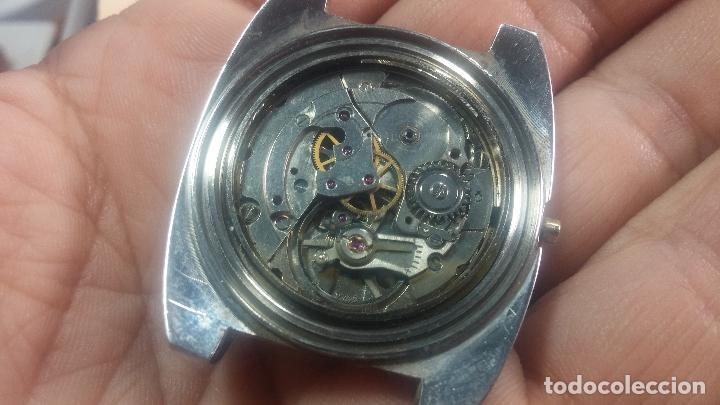 Relojes de pulsera: Botito y grande reloj CLIPER con botita esfera azul marine, para reparar o para piezas. - Foto 34 - 124239335