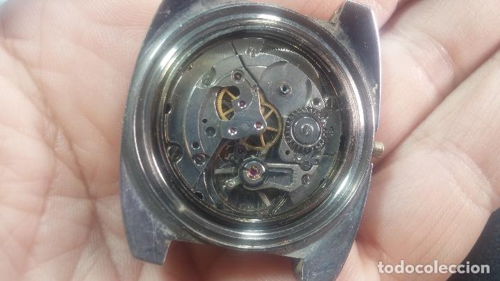 Relojes de pulsera: Botito y grande reloj CLIPER con botita esfera azul marine, para reparar o para piezas. - Foto 36 - 124239335