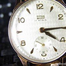 Relojes de pulsera: COLECCIONISTAS TITAN MILITAR AÑOS 50 CHAPADO EN ORO INCREIBLE ESTADO LOTE WATCHE. Lote 124320983