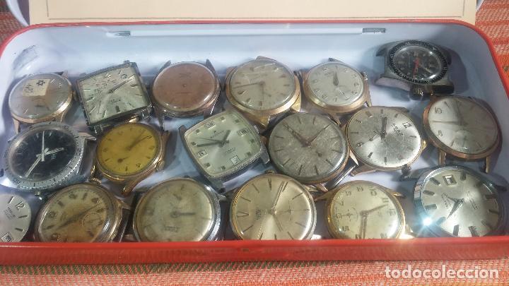 Relojes de pulsera: BOTITO GRAN LOTE DE 18 MAGNÍFICOS RELOJES ANTIGUOS PARA REPARAR O PIEZAS, MUY BARATITO A 10E UNIDAD - Foto 3 - 124334523