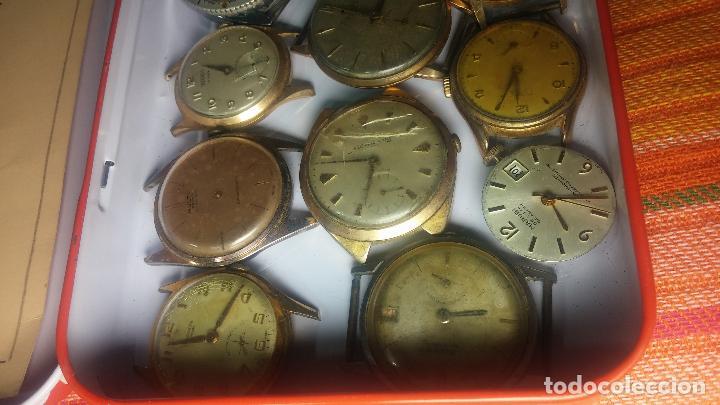 Relojes de pulsera: BOTITO GRAN LOTE DE 18 MAGNÍFICOS RELOJES ANTIGUOS PARA REPARAR O PIEZAS, MUY BARATITO A 10E UNIDAD - Foto 5 - 124334523