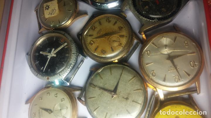 Relojes de pulsera: BOTITO GRAN LOTE DE 18 MAGNÍFICOS RELOJES ANTIGUOS PARA REPARAR O PIEZAS, MUY BARATITO A 10E UNIDAD - Foto 7 - 124334523