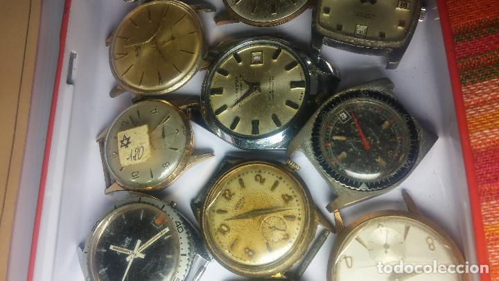 Relojes de pulsera: BOTITO GRAN LOTE DE 18 MAGNÍFICOS RELOJES ANTIGUOS PARA REPARAR O PIEZAS, MUY BARATITO A 10E UNIDAD - Foto 9 - 124334523