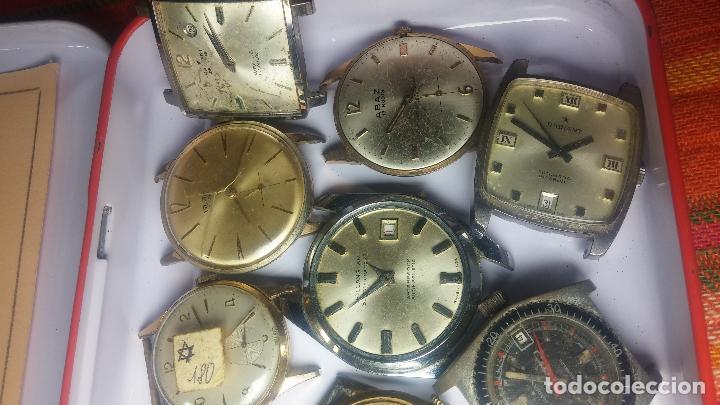 Relojes de pulsera: BOTITO GRAN LOTE DE 18 MAGNÍFICOS RELOJES ANTIGUOS PARA REPARAR O PIEZAS, MUY BARATITO A 10E UNIDAD - Foto 11 - 124334523
