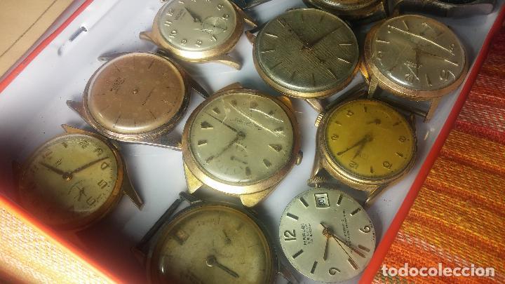 Relojes de pulsera: BOTITO GRAN LOTE DE 18 MAGNÍFICOS RELOJES ANTIGUOS PARA REPARAR O PIEZAS, MUY BARATITO A 10E UNIDAD - Foto 13 - 124334523